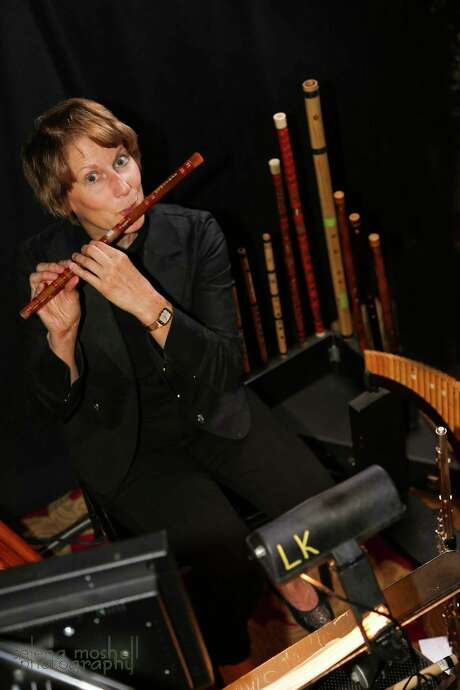 "Darlene Drew plays 15 flutes for the touring production of ""The Lion King."" Photo: Courtesy Broadway At The Hobby Center"