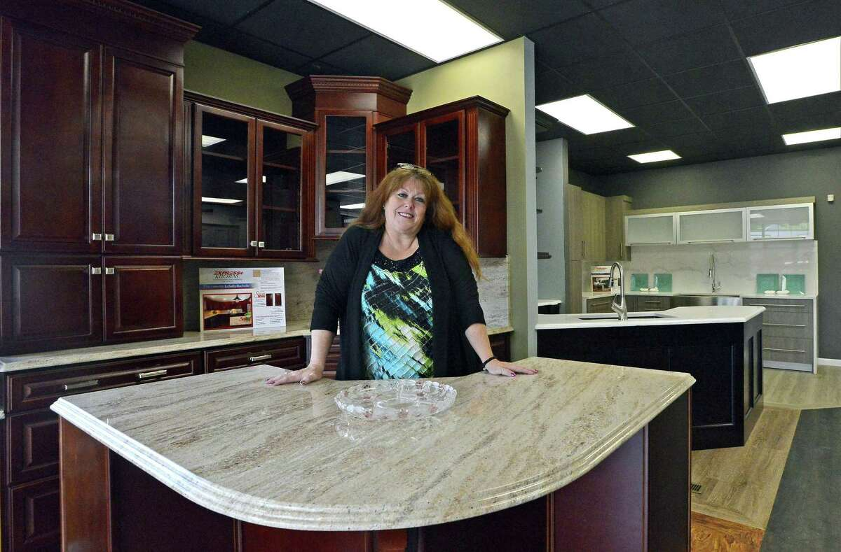 Deborah Wolak, project manager, stands in the showroom of the new Express Kitchens showroom at 1011 Hope St., in Stamford, Conn., on Thursday, June 22, 2017.