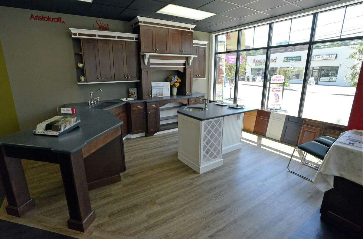 One of many kitchen designs are featured in the showroom of the new Express Kitchens, at 1011 Hope St., in Stamford, Conn., on Thursday, June 22, 2017.