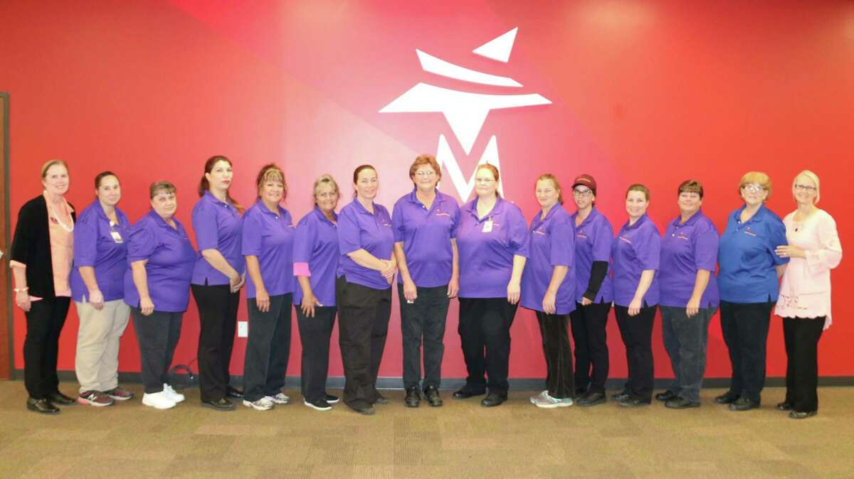 The Texas Association of School Nutrition (TASN) honored Magnolia ISD Child Nutrition Department with two awards this year at the annual conference held at the George R. Brown Convention Center in Houston. Pictured is Magnolia ISD's nutrition department.