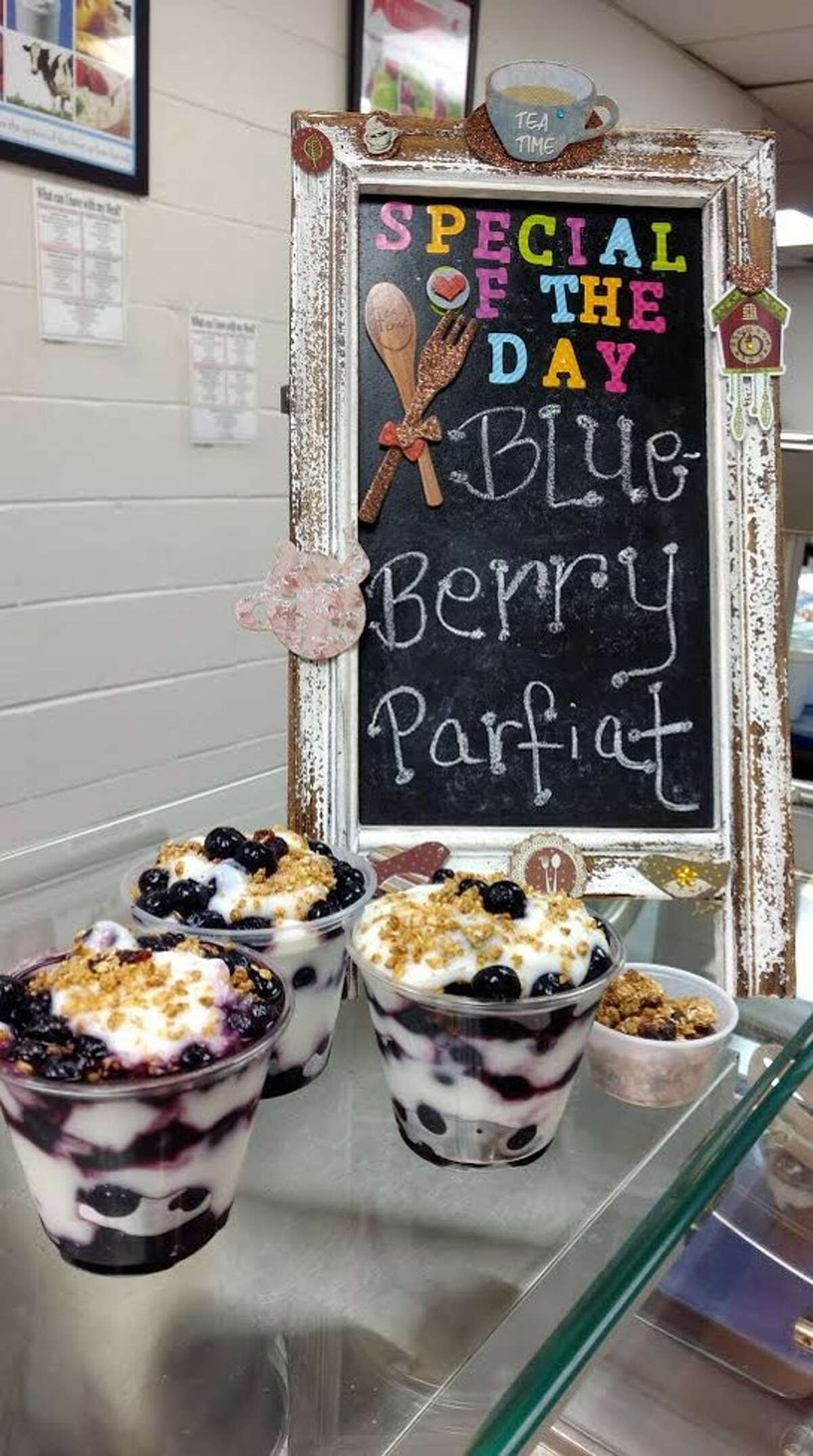A display set up by the Magnolia ISD Child Nutrition Department. The department was honored with two awards by the Texas Association of School Nutrition.
