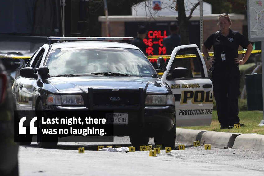 A San Antonio police officer recalls the mood throughout the department the evening after an officer-involved shooting near downtown on June 29, 2017, that resulted in the death of 32-year-old officer Miguel Moreno.