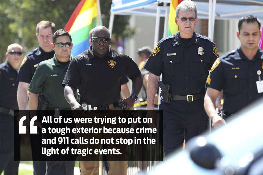 A San Antonio police officer recalls the mood throughout the department the evening after an officer-involved shooting near downtown on June 29, 2017, that resulted in the death of 32-year-old officer Miguel Moreno. Photo: San Antonio Express-News Staff