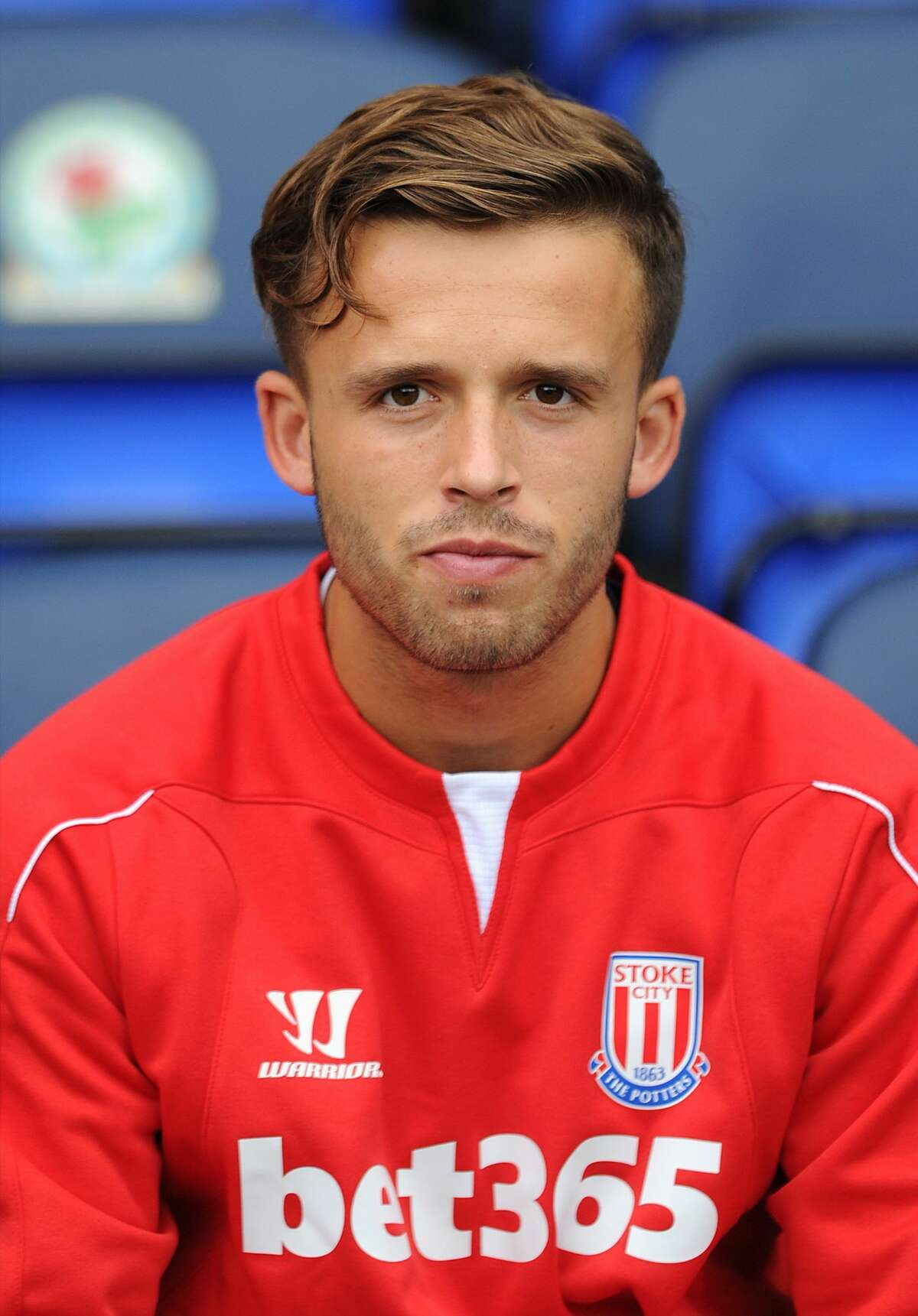 BLACKBURN, ENGLAND - AUGUST 03: Charles Ward of Stoke City looks on during the pre season friendly match between Blackburn Rovers and Stoke City at Ewood Park on August 03, 2014 in Blackburn, England. (Photo by Chris Brunskill/Getty Images)