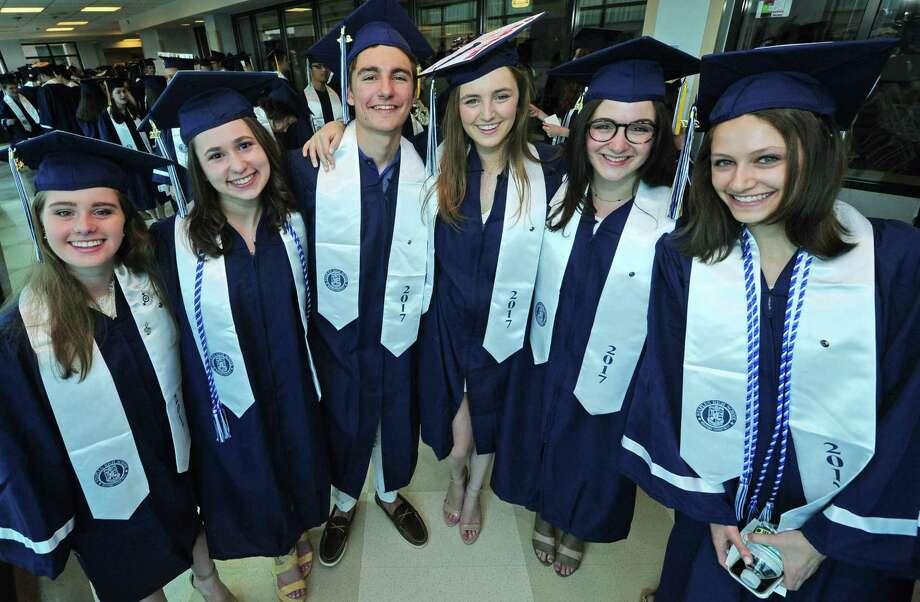 The Staples High School Class of 2017 graduation at the school in Westport on June 22. Photo: Erik Trautmann / Hearst Connecticut Media / Norwalk Hour