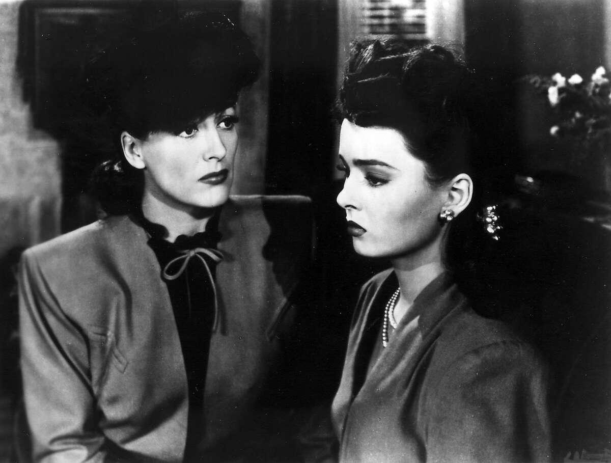 "Joan Crawford and Ann Blyth in ""Mildred Pierce"""
