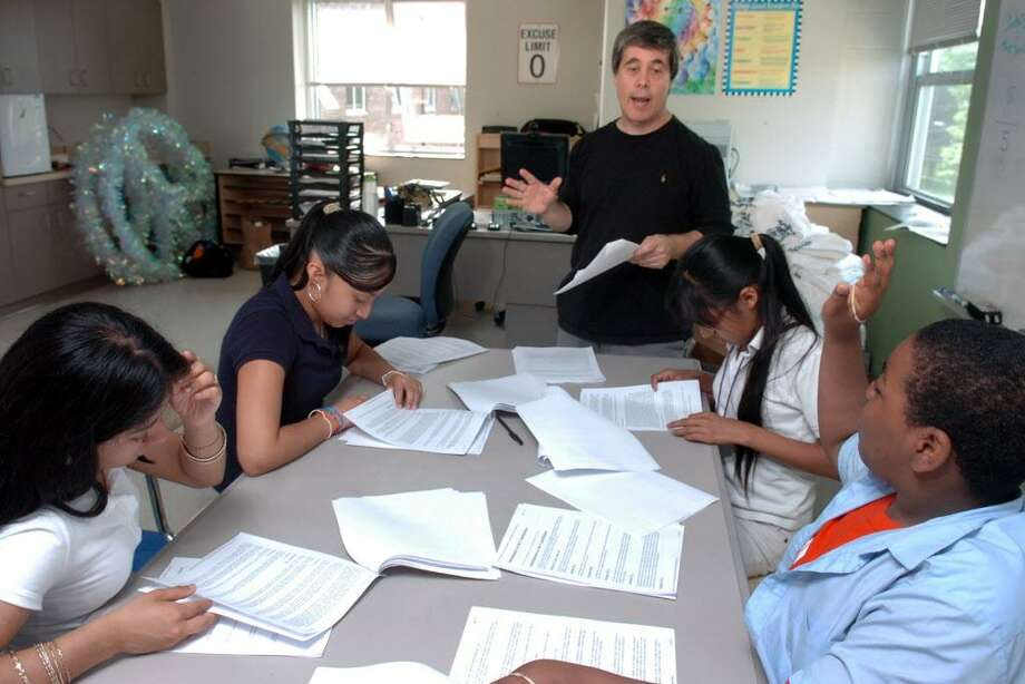 Ron Rapice Works With Students In His Tag Talented And Gifted Program At Columbus