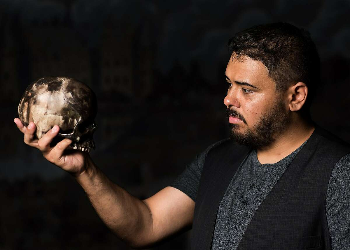 """Nathaniel Andalis in the title role of the San Francisco Shakespeare Festival's """"Hamlet."""""""