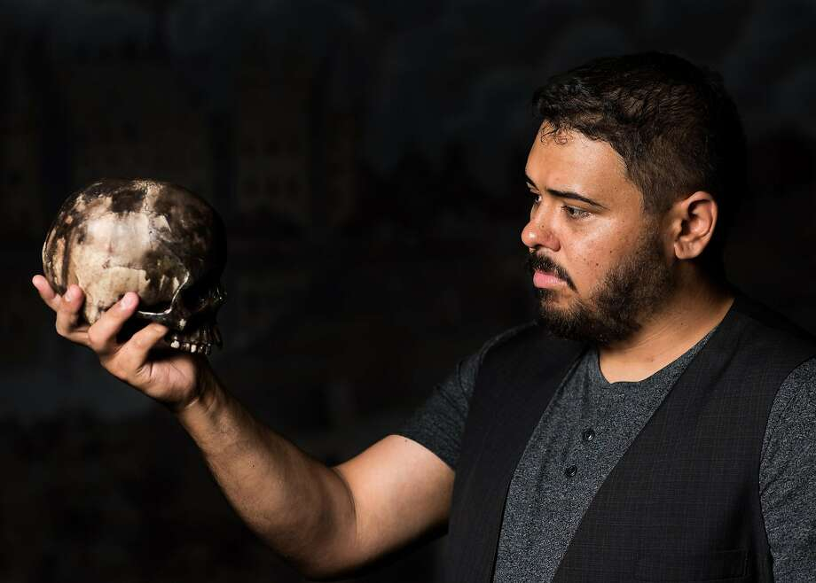 """Nathaniel Andalis in the title role of S.F. Shakes' """"Hamlet."""" Photo: Miorel Palii, San Francisco Shakespeare Festival"""