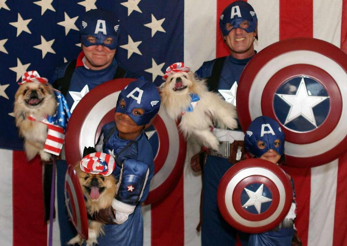 The modern American family: Zane, Kevin, Brian and Aidan Fisher-Paulson.