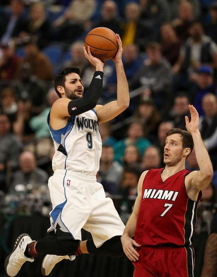 Ricky Rubio will run point for the Jazz. Photo: Jeff Wheeler, TNS