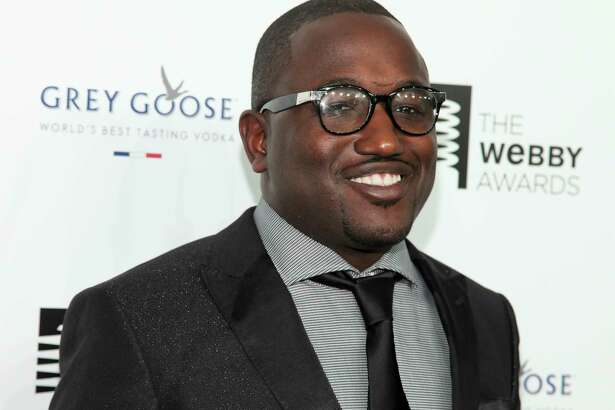 FILE - In this May 18, 2015, file photo, Hannibal Buress attends the 19th Annual Webby Awards at Cipriani Wall Street in New York. Buress sent a lookalike to the red carpet premiere of Spider-man as a prank on June 28, 2017. (Photo by Andy Kropa/Invision/AP, File) ORG XMIT: PAPM104