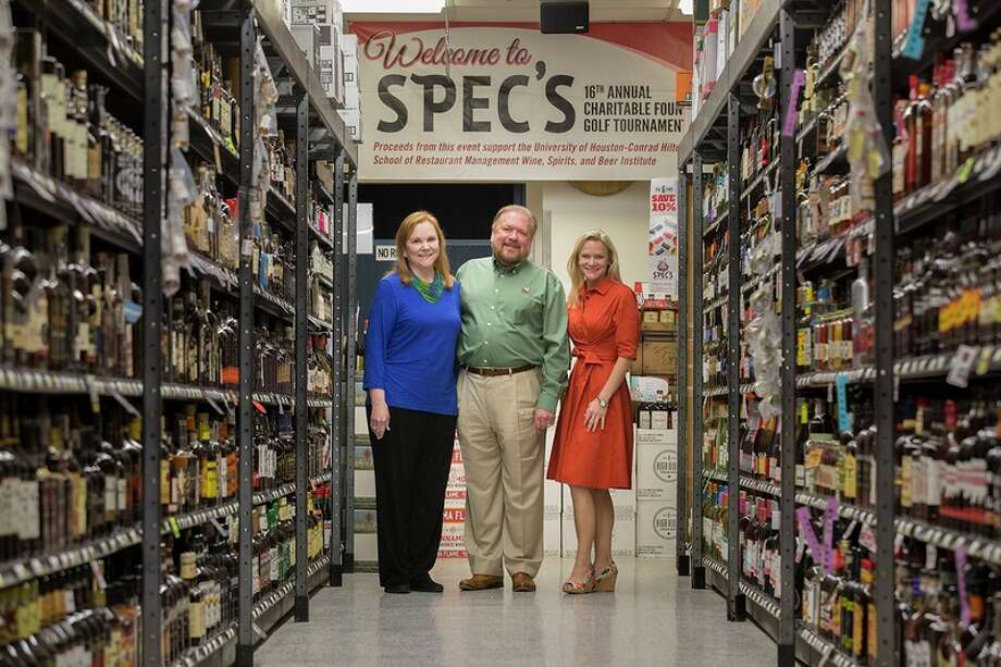 Spec's Liquor President John Rydman, with wife and owner Lindy Rydman, left, and their daughter Lisa Rydman, right, granddaughter of the chain's founder, at the flagship store in Houston on June 29, 2017. Spec's got the green light to begin expanding again after an administrative court poured cold water on sanctions sought by state liquor regulators.Click through to see scenes from the chain's charitable foundation gala. Photo: Michael Stravato For The Texas Tribune