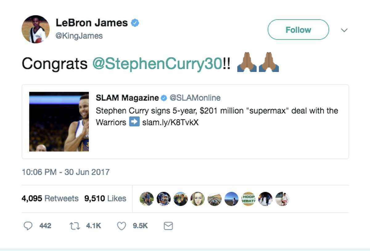 NBA fans, players and media react to Steph Curry's new five-year $201 million contract.