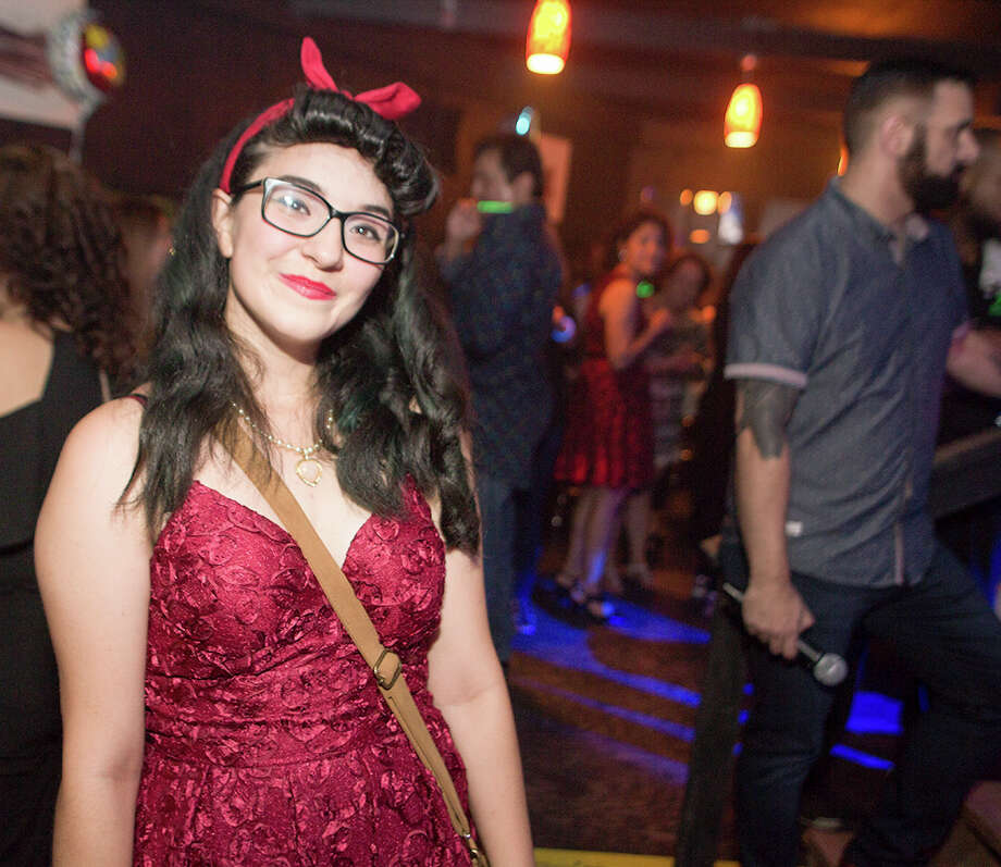 The spirit of Bettie Page ran amok at a look-alike contest Friday night, July 1, 2017, at Brass Monkey on the St. Mary's Strip. Photo: B. Kay Richter For Mysa