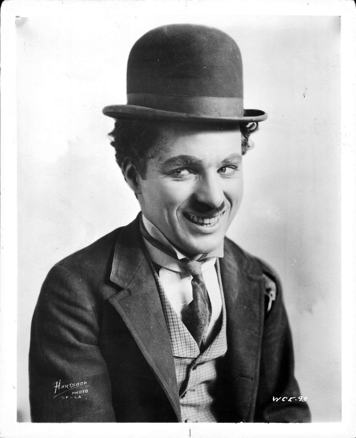 Charles Chaplin publicity portrait for the short 'A Night Out', 1915. (Photo by General Film Company/Getty Images)
