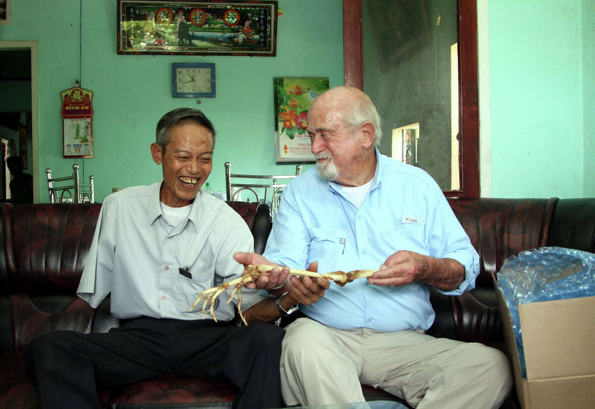 Nguyen Quang Hung and Sam Axelrad reunited in Vietnam in 2013 when the former Army surgeon returned the bones of the arm he amputated.