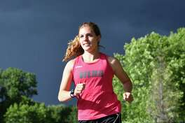 Siena distance runner Sarah Forman poses for a photo at The Crossings of Colonie on Monday, June 26, 2017, in Colonie, N.Y. (Will Waldron/Times Union)