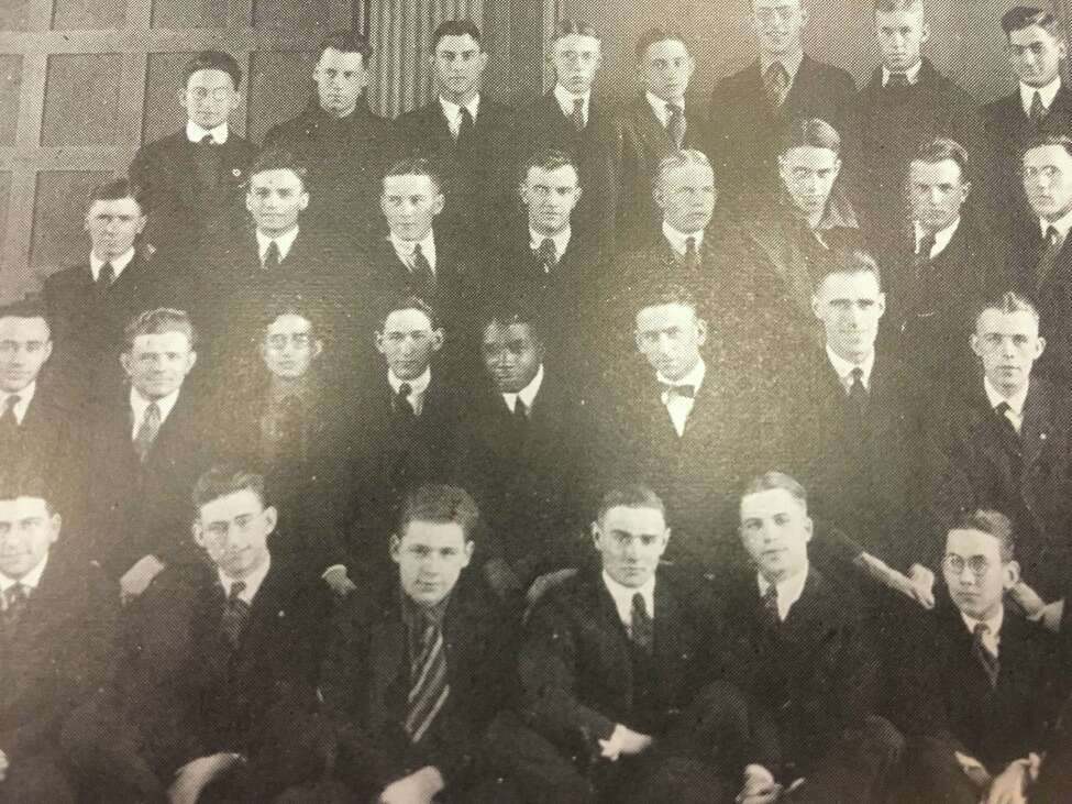 Wendell King in a Radio Club photo from The Garnet, the Union College yearbook