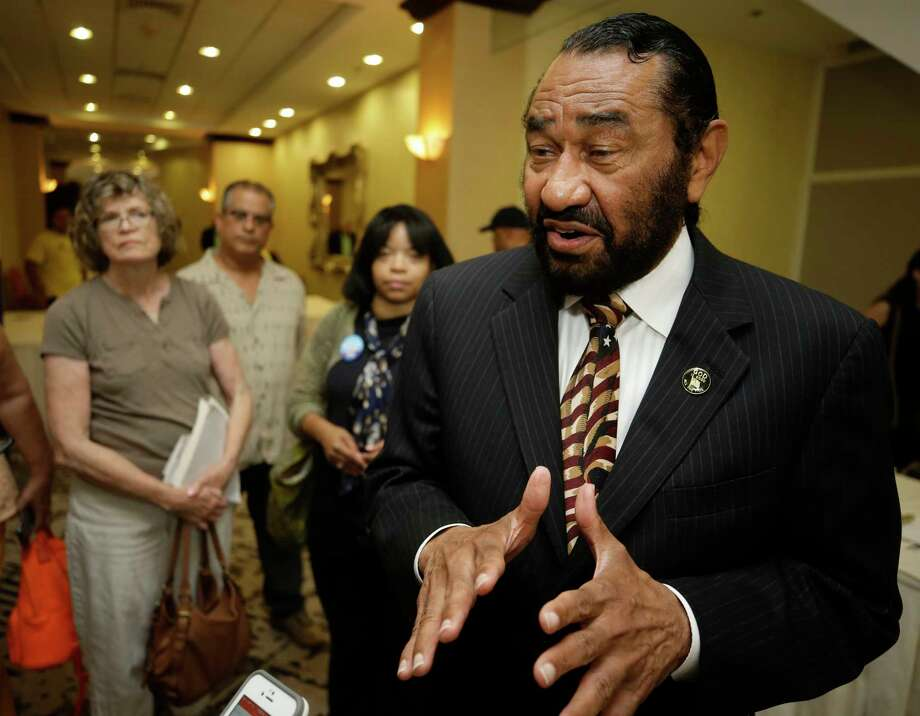 Congressman Al Green speaks to the media during a public forum on medicaid held by the Congressman along with the Children's Defense Fund-Texas, Houston Women March, Community Health Choice, HOPE Clinic, and other groups at the Crowne Plaza Hotel,  8686 Kirby Dr., Saturday, July 1, 2017, in Houston. ( Melissa Phillip / Houston Chronicle ) Photo: Melissa Phillip, Staff / © 2017 Houston Chronicle