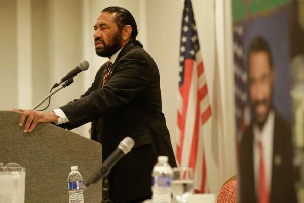 Congressman Al Green speaks during a public forum on medicaid held by the Congressman along with the Children's Defense Fund-Texas, Houston Women March, Community Health Choice, HOPE Clinic, and other groups at the Crowne Plaza Hotel,  8686 Kirby Dr., Saturday, July 1, 2017, in Houston. ( Melissa Phillip / Houston Chronicle )