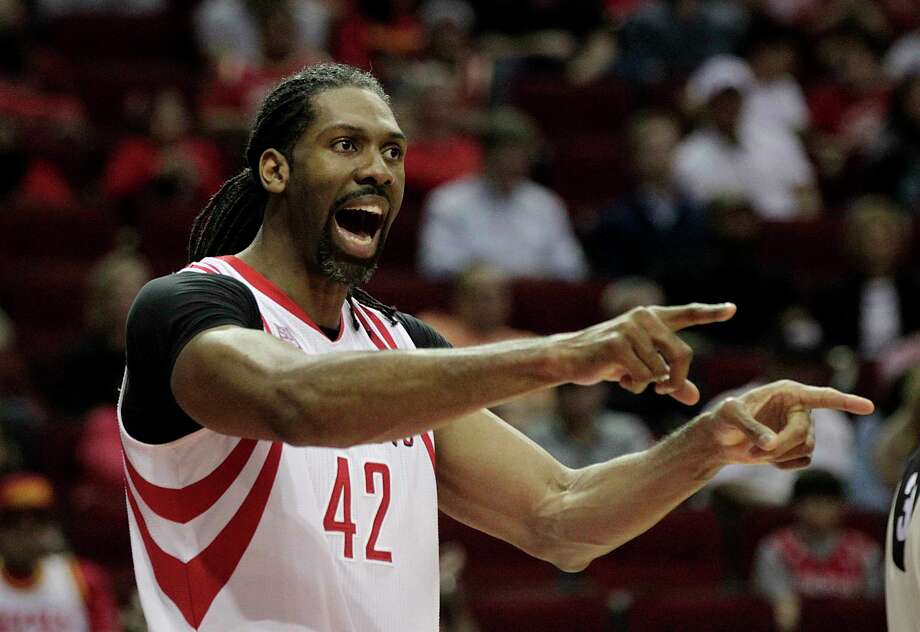 The Rockets had to revise the contract offer to center Nene from $15 million over four years to $10.3 million over three years because the final year of the initial offer was not permitted. Photo: James Nielsen, Staff / © 2017  Houston Chronicle