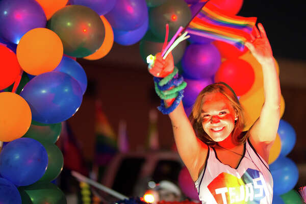 San Antonio's LGBTQ community celebrated and showed off its Pride Saturday July 1, 2017, with a parade and other activities throughout the day and night.