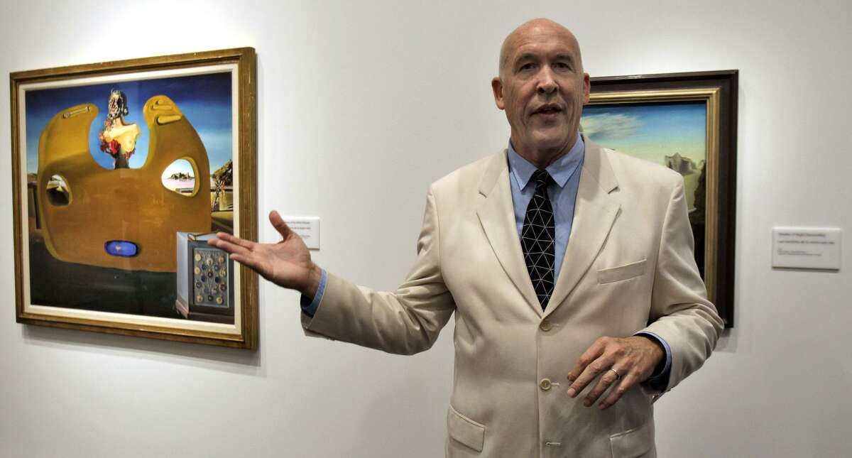 Hank Hine, executive director of the Dali Museum, speaks during a media tour before the museum's new home opened six years ago, adding a dimension to St. Petersburg's arts scene.