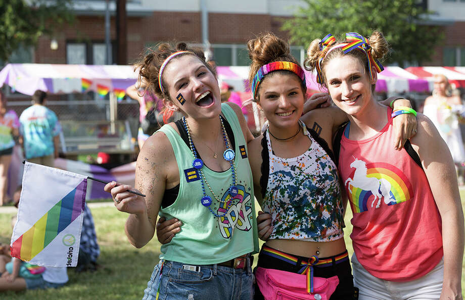 Crockett Park filled with Pride Saturday July 1, 2017, for the city's annual celebration of its LGBTQ community. Photo: B. Kay Richter For MySA