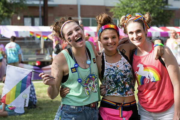 Crockett Park filled with Pride Saturday July 1, 2017, for the city's annual celebration of its LGBTQ community.