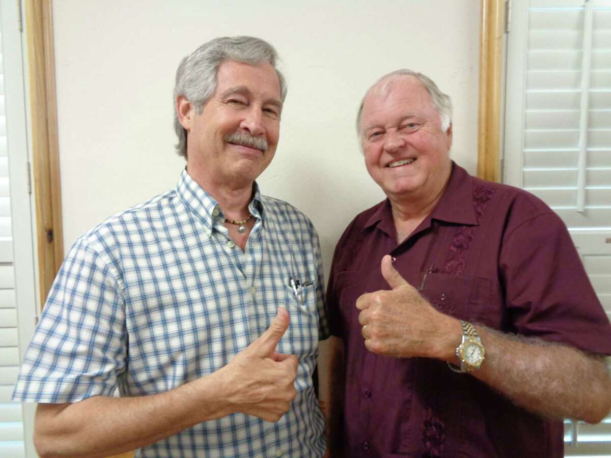 Larry Harris and Jim Sterling were the guests speakers at the June meeting of the Dayton Historical Society.
