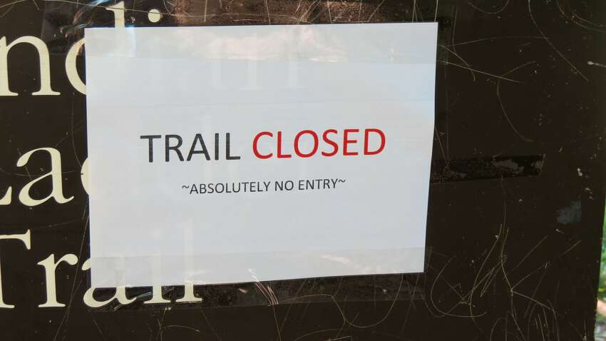 Indian Ladder Trail was closed Sunday, July 2, 2017 at Thacher State Park after a woman was injured by a rock.