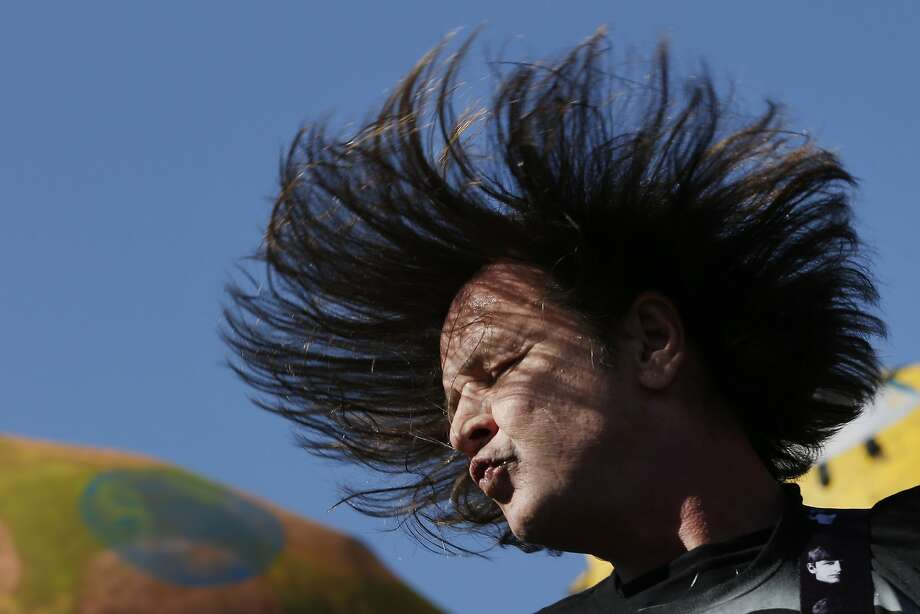 Jeff McDonald of Redd Kross performs during the Burger Boogaloo music festival. Photo: Santiago Mejia, The Chronicle