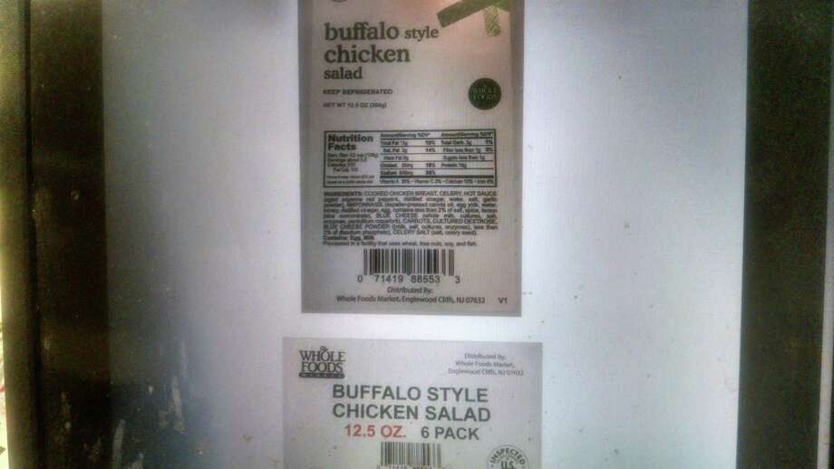 Tuna salad sold as chicken salad in Whole Foods stores in several states, including Connecticut, has been recalled for mislabeling. Photos courtesy of the U.S. Department of Agriculture. Photo: Contributed / Contributed