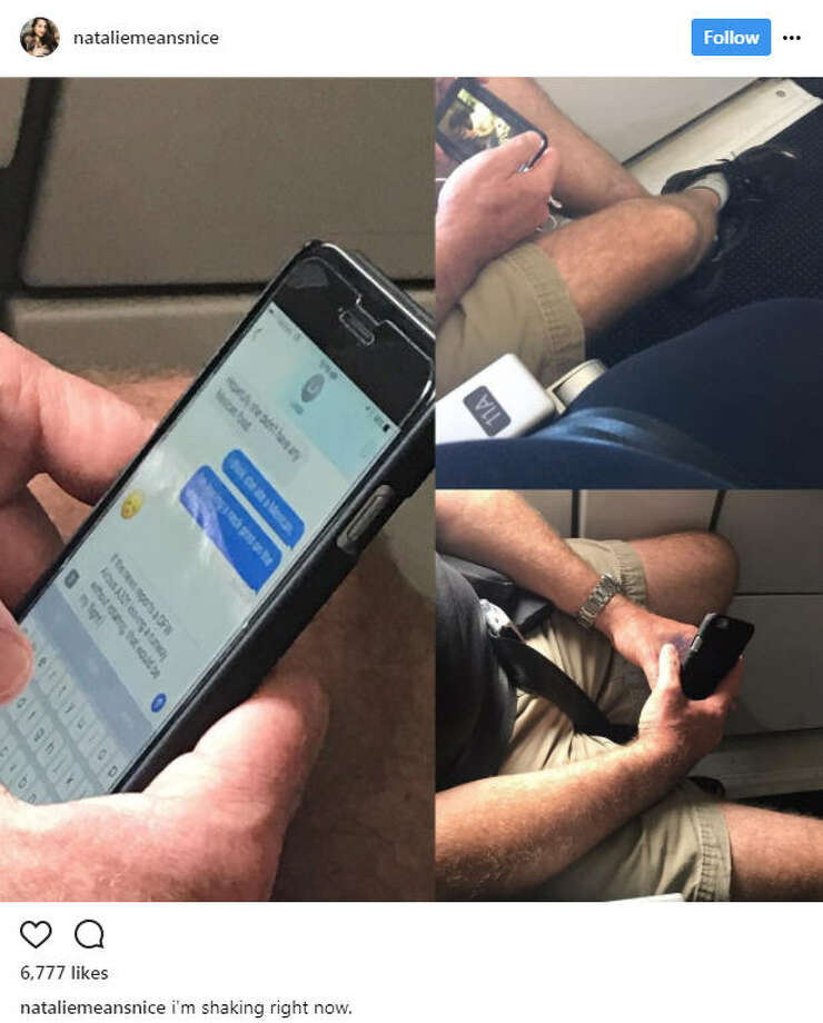 Natalie Hage, a Texas plus-size model, caught a man on her flight body shaming her through text messages. Her call out online has since gone viral.Source: Instagram Photo: Instagram / Natalie Hage
