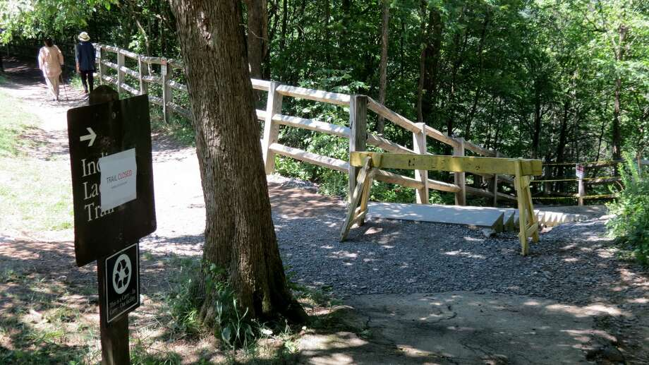 A woman was injuried at Thacher State Park on July 2, closing Indian Ladder Trail until Saturday, June 9, 2018. A hike found human remains Saturday the day the trail reopened. Sheriff's investigators say the death does not appear to be the result of any conditions on the trail. Photo: Thacher Park Trail