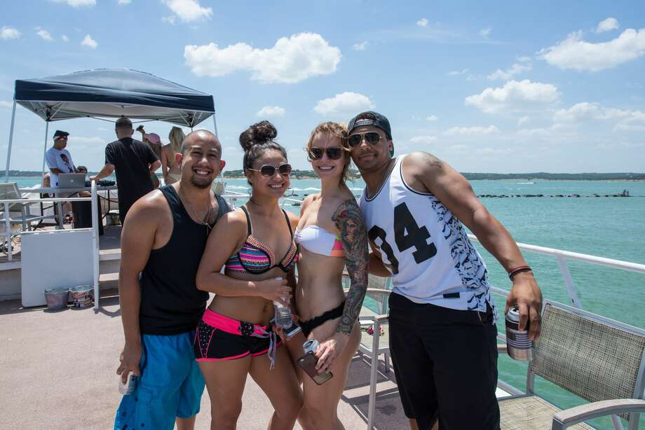 The clear waters of Canyon Lake called revelers to an energetic boat party on Sunday, July 2, 2017. Photo: Kody Melton, For MySA.com