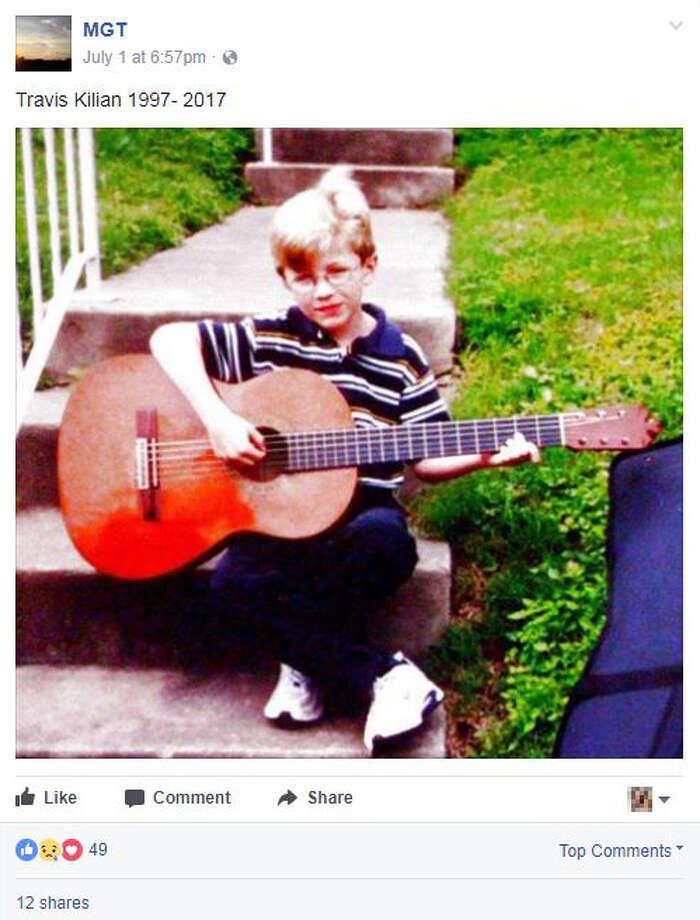 """Travis Kilian 1997-2017"" Photo: Screengrab Via Facebook"