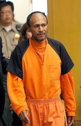 Francisco Sanchez walks into the court for his arraignment at the Hall of Justice on Tuesday, July 7, 2015,  in San Francisco. Prosecutors have charged the Mexican immigrant with murder in the waterfront shooting death of 32-year-old Kathryn Steinle. (Michael Macor/San Francisco Chronicle via AP, Pool)