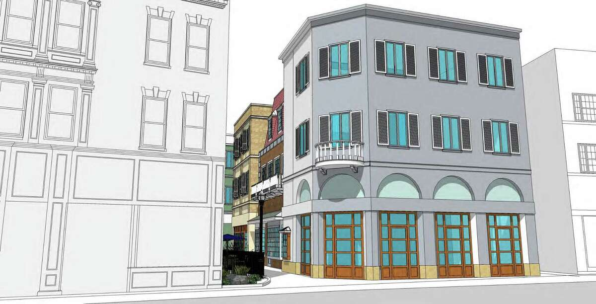 A rendering from Antinozzi Associates shows from the perspective of Fairfield Avenue what a new downtown Bridgeport building from the Kuchma Corp. is to look like.