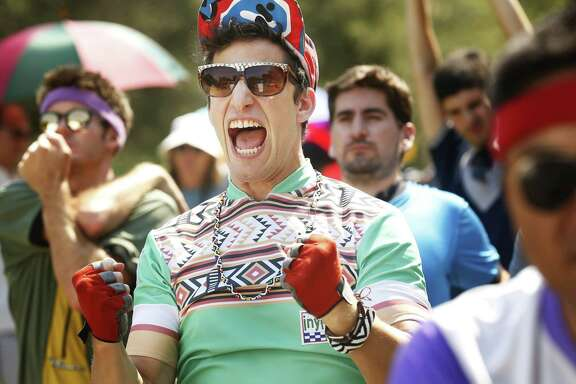 "Andy Samberg created the show ""Tour de Pharmacy"" and plays one of the cyclists."