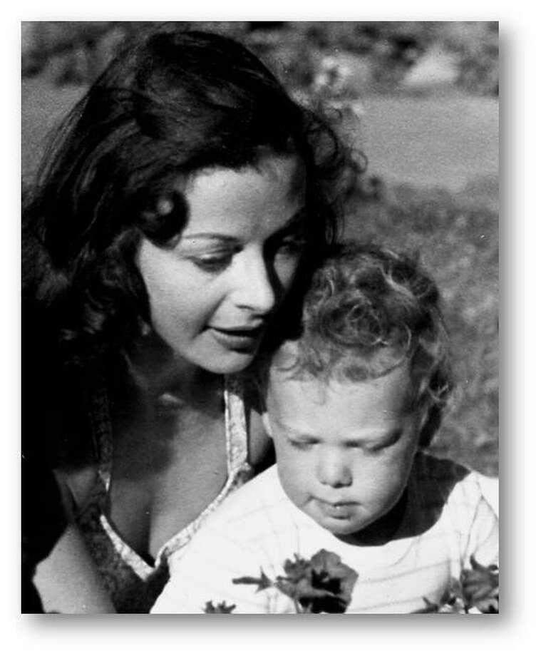 Actress Hedy Lamarr (left), subject of the documentary BOMBSHELL: THE HEDY LAMARR STORY, with her son Anthony Loder (right) in an archival photo.  Photo: Courtesy Jewish Film Institute Photo: Courtesy Jewish Film Institute