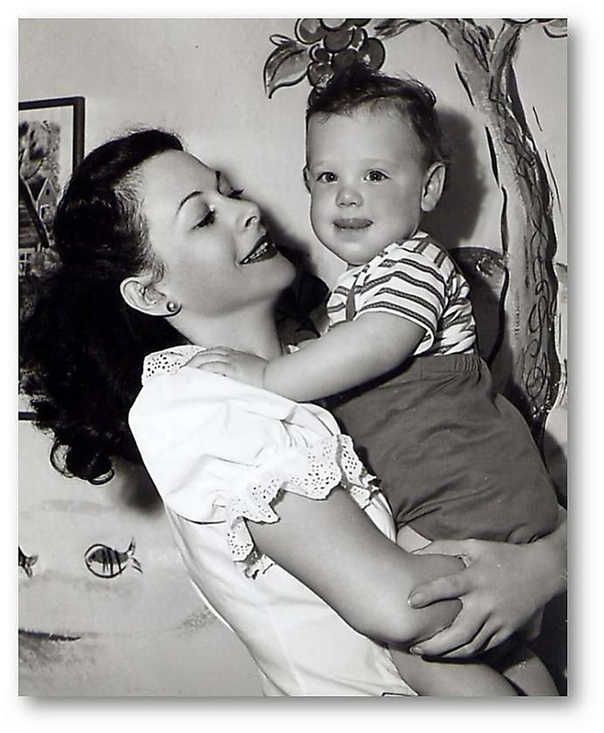 """Hedy Lamarr, subject of the documentary """"Bombshell: The Hedy Lamarr Story,"""" is shown with her son, Anthony Loder."""