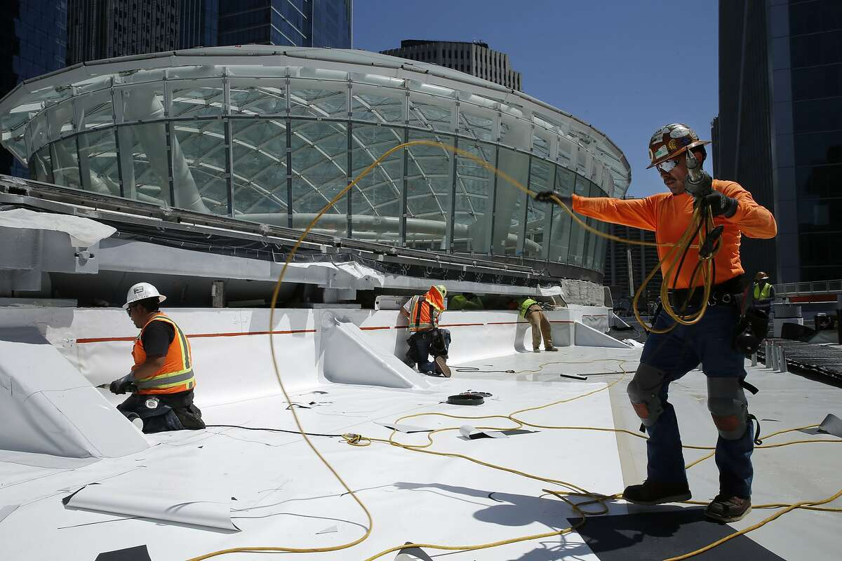 Sergio Margarito is on the job at the Transbay Transit Center site. Architects from Pelli Clarke Pelli are overseeing the construction week by week.