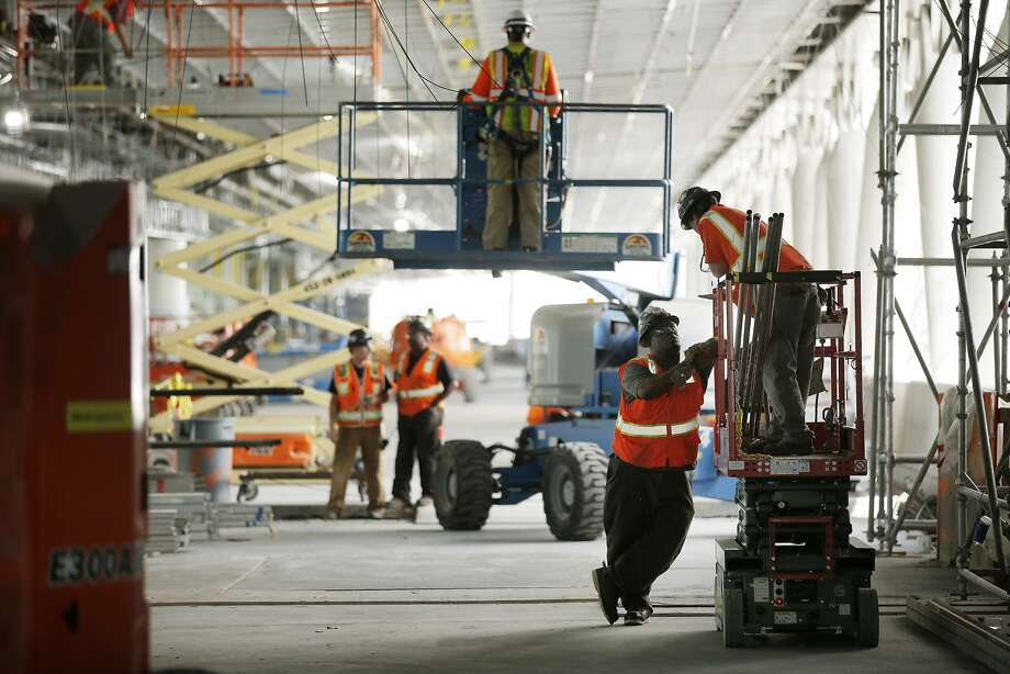 The Transbay Transit Center in San Francisco is scheduled to open in the spring. Photo: Santiago Mejia, The Chronicle