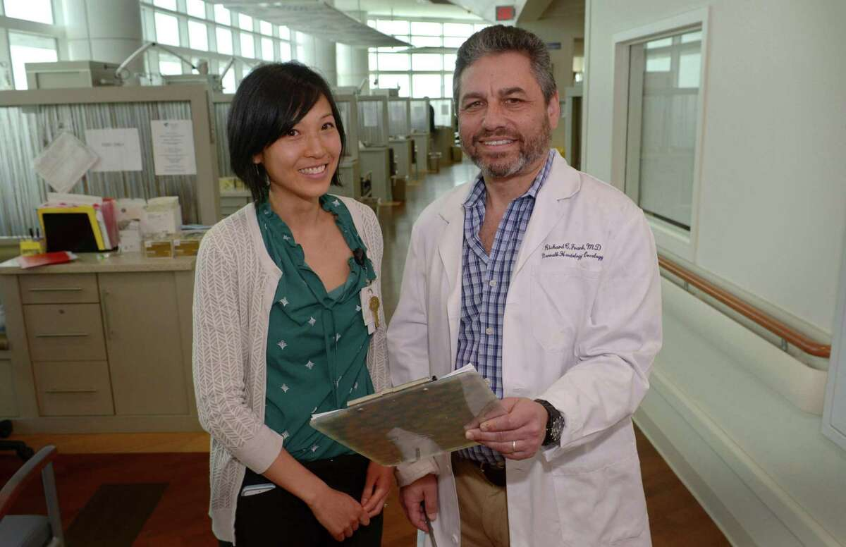 Research Nurse Practitioner Tammy Lo and Director of Clinical Cancer Research Dr. Richard Frank talk about the Western Connecticut Health Network's $2.7 million 3- year research study that will investigate the link between new-onset diabetes and pancreatic cancer Wednesday, June 21, 2017, at Norwalk Hospital in Norwalk, Conn. Pancreatic cancer is one of the most lethal of human malignancies, with five-year survival rates of only 8 percent. It is on a trajectory to become the second leading cause of cancer deaths in the US by 2020.