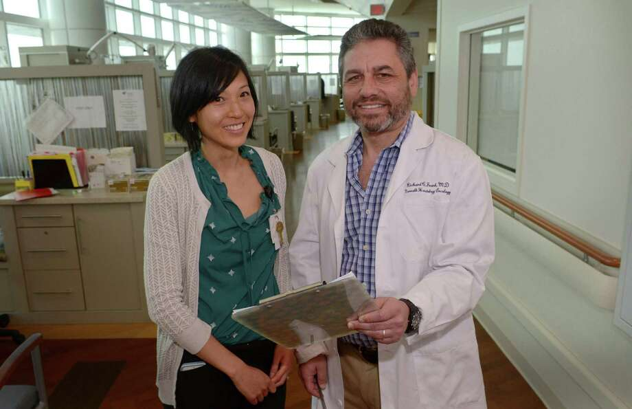 Research Nurse Practitioner Tammy Lo and Director of Clinical Cancer Research Dr. Richard Frank talk about the Western Connecticut Health Network's $2.7 million 3- year research study that will investigate the link between new-onset diabetes and pancreatic cancer Wednesday, June 21, 2017, at Norwalk Hospital in Norwalk, Conn. Pancreatic cancer is one of the most lethal of human malignancies, with five-year survival rates of only 8 percent. It is on a trajectory to become the second leading cause of cancer deaths in the US by 2020. Photo: Erik Trautmann / Hearst Connecticut Media / Norwalk Hour