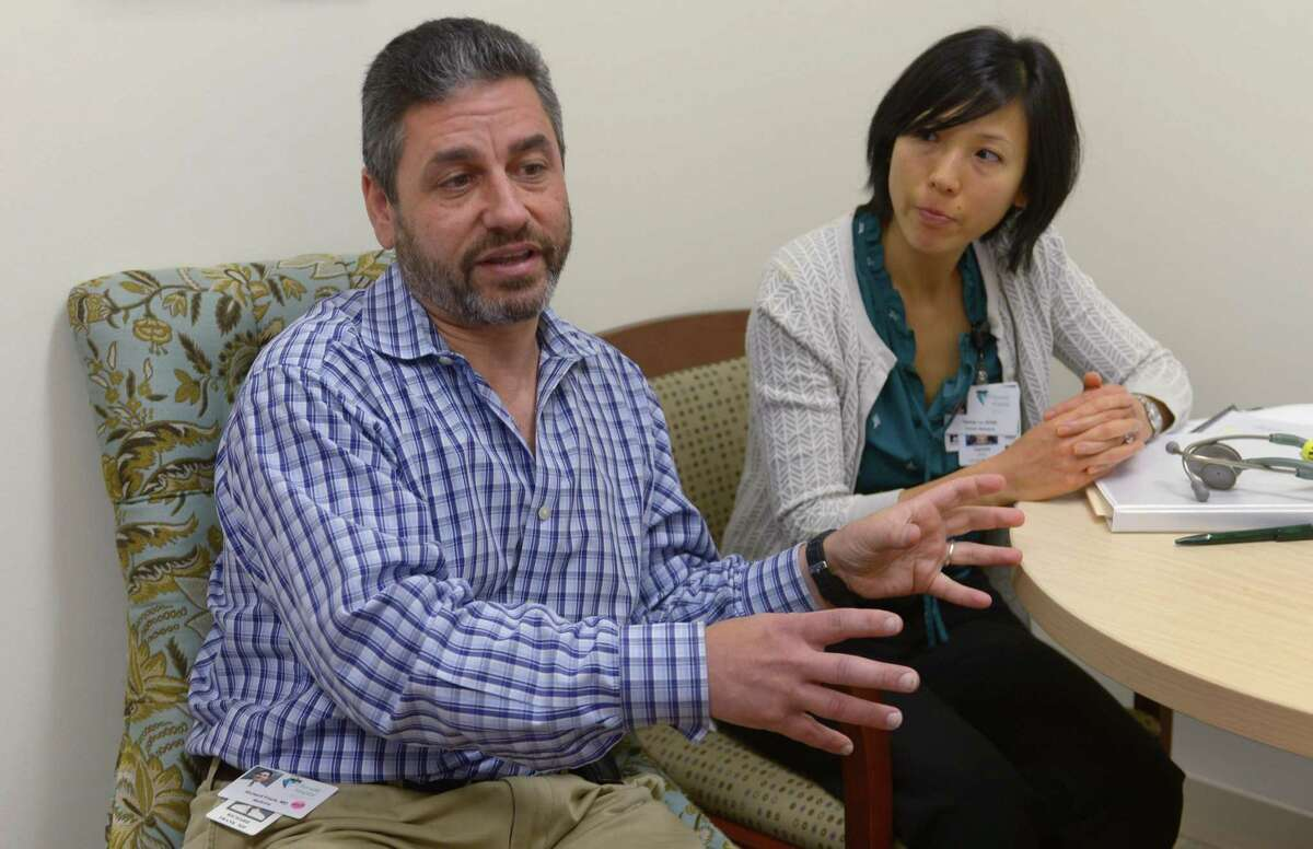 Director of Clinical Cancer Research Dr. Richard Frank and Research Nurse Practitioner Tammy Lo talk about the Western Connecticut Health Network's $2.7 million 3- year research study that will investigate the link between new-onset diabetes and pancreatic cancer Wednesday, June 21, 2017, at Norwalk Hospital in Norwalk, Conn. Pancreatic cancer is one of the most lethal of human malignancies, with five-year survival rates of only 8 percent. It is on a trajectory to become the second leading cause of cancer deaths in the US by 2020.
