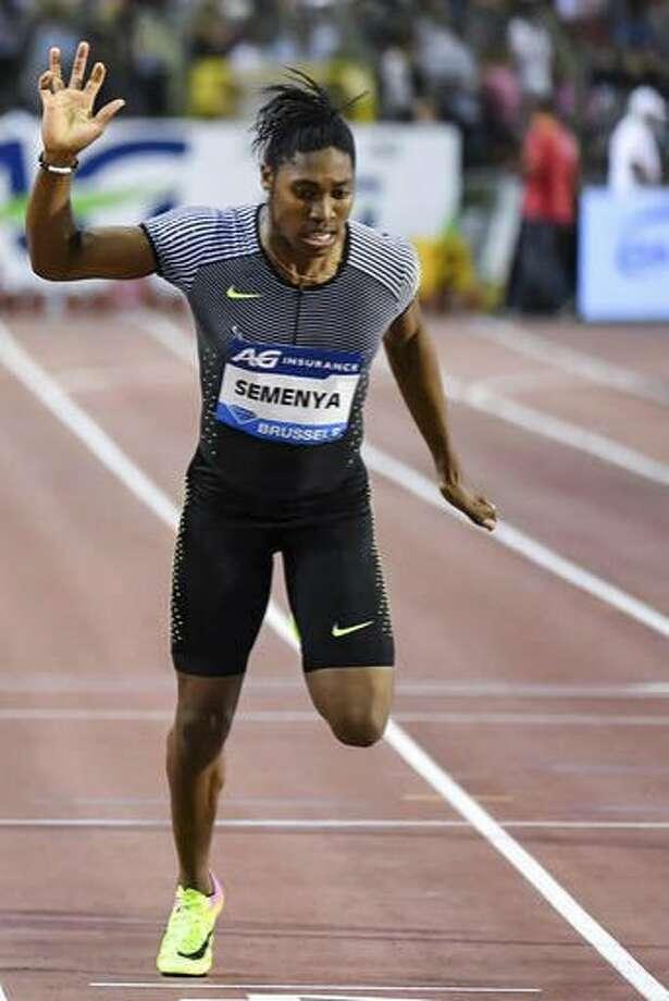 Caster Semenya wins a 400m event in Brussels in September. Photo: Geert Vanden Wijngaert, Associated Press