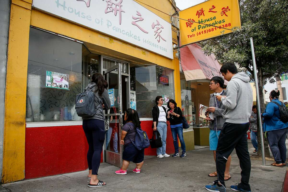 People wait in line to be seated at the House of Pancakes on Taraval Street in San Francisco on Saturday, July 1, 2017.